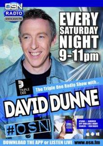 The Triple Dee Radio show with David Dunne